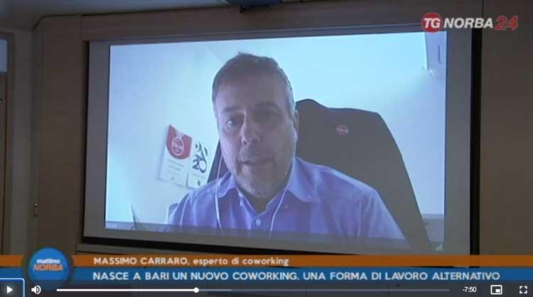Faro futuro Coworking in Tv con Carraro