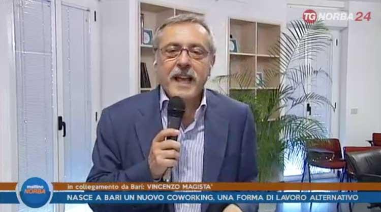 Faro futuro Coworking in Tv - Vincenzo Magistà